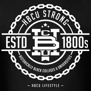 HBCU Strong - Men's Black and White T-shirt - Men's T-Shirt