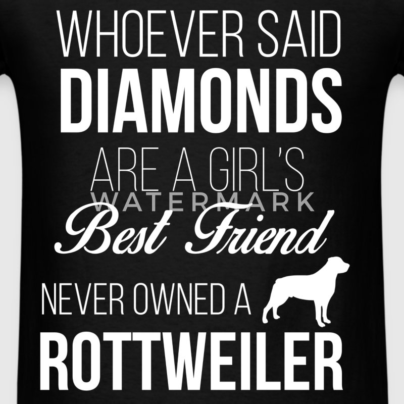 Whoever said diamonds are girl's best friend never - Men's T-Shirt