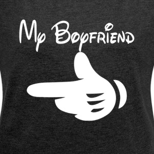 MY BOYFRIEND COUPLE PARTNER T-Shirts - Women´s Rolled Sleeve Boxy T-Shirt