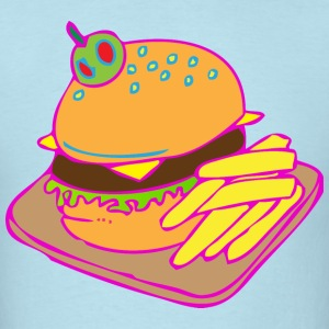 Neon Burger - Men's T-Shirt