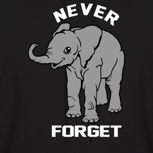 Baby Elephant Never Forgets - Men's Hoodie