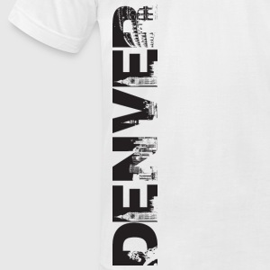 Denver Cityscape - Men's T-Shirt by American Apparel