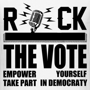 ROCK THE VOTE 12.png T-Shirts - Men's T-Shirt