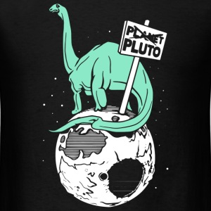 Brontosaurus On Pluto - Men's T-Shirt