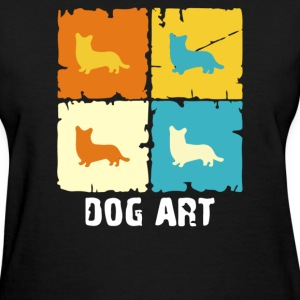 Cardigan Welsh Corgi Dog Art - Women's T-Shirt