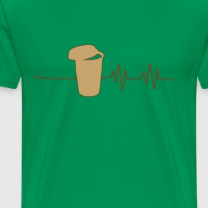coffee_heartbeat_ - Men's Premium T-Shirt