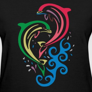 DOLPHINS SPLASHING - Women's T-Shirt