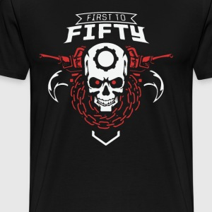 First to Fifty Skulls - Men's Premium T-Shirt