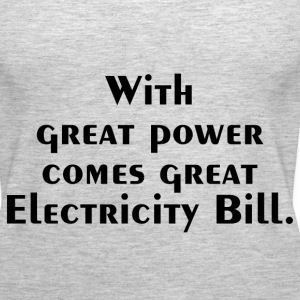 ELECTRICITY BILL Tanks - Women's Premium Tank Top