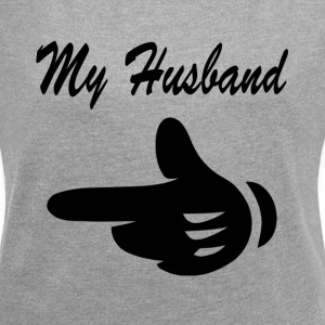 MY HUSBAND WIFE COUPLE PARTNER SOUL MATE T-Shirts - Women´s Rolled Sleeve Boxy T-Shirt
