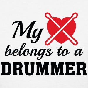 Heart Belongs Drummer - Women's T-Shirt