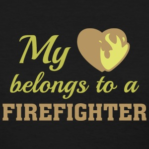 Heart Belongs Firefighter - Women's T-Shirt