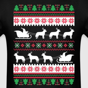 Australian Cattle Dog Santa's Reindeer Christmas U T-Shirts - Men's T-Shirt