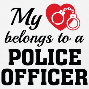 Heart Belongs Police Officer - Women's T-Shirt