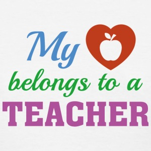 Heart Belongs Teacher - Women's T-Shirt