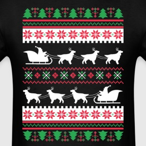 English Setter Santa's Reindeer Christmas Ugly T-S T-Shirts - Men's T-Shirt