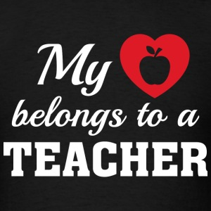Heart Belongs Teacher - Men's T-Shirt