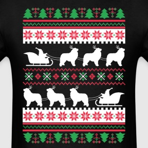 Great Pyrenees Santa's Reindeer Christmas Ugly T-S T-Shirts - Men's T-Shirt