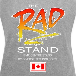 The Rad Stand - Old School BMX Womens fit t-shirt - Women´s Rolled Sleeve Boxy T-Shirt