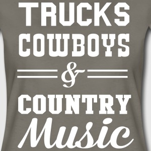 Trucks Cowboys and Country Music T-Shirts - Women's Premium T-Shirt
