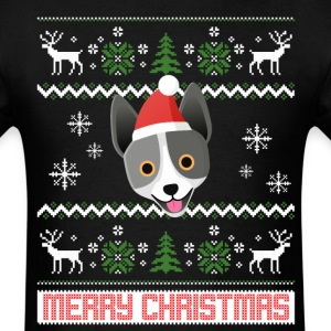 Australian Cattle dog Santa Snow Christmas T-Shirt T-Shirts - Men's T-Shirt