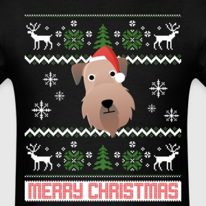 Soft Coated Wheaten Terrier Santa Snow Christmas T T-Shirts - Men's T-Shirt