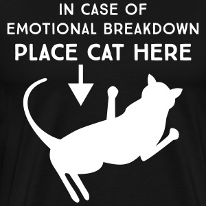 In case of emotional breakdown place cat here T-Shirts - Men's Premium T-Shirt