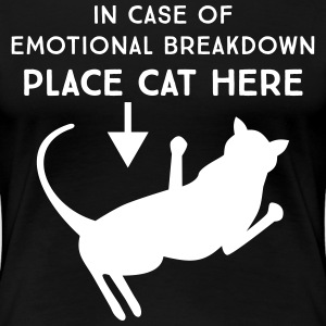 In case of emotional breakdown place cat here T-Shirts - Women's Premium T-Shirt