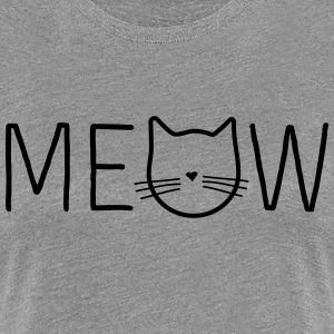 Meow Cat Face T-Shirts - Women's Premium T-Shirt
