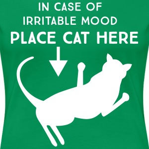 In case of irritable mood place cat here T-Shirts - Women's Premium T-Shirt