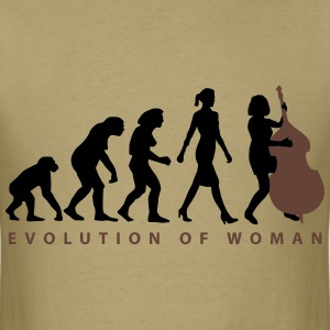evolution_female_bass_player_b_2c T-Shirts - Men's T-Shirt