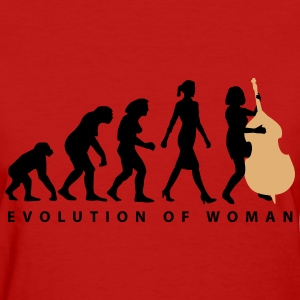 evolution_female_bass_player_a_2c T-Shirts - Women's T-Shirt
