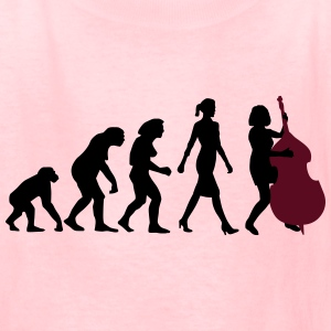 evolution_female_bass_player_c_2c Kids' Shirts - Kids' T-Shirt