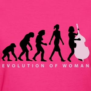 evolution_female_bass_player_b_2c T-Shirts - Women's T-Shirt