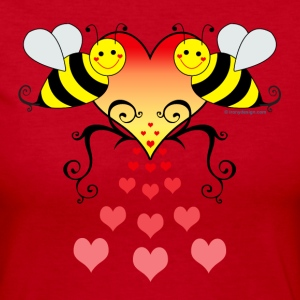 Bumble Bees Love - Women's Long Sleeve Jersey T-Shirt
