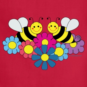 Bees & Flowers Design - Adjustable Apron