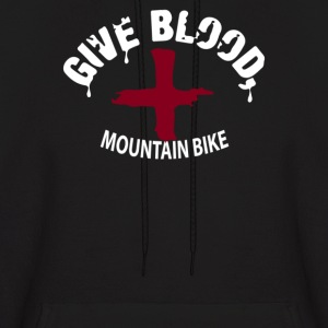 Give Blood, Mountain Biking - Men's Hoodie