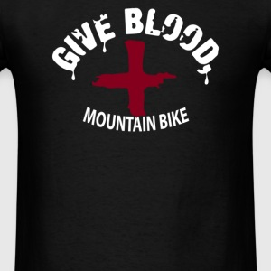 Give Blood, Mountain Biking - Men's T-Shirt