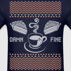 Damn Fine Coffee Ugly Christmas Sweater T-Shirts - Men's T-Shirt