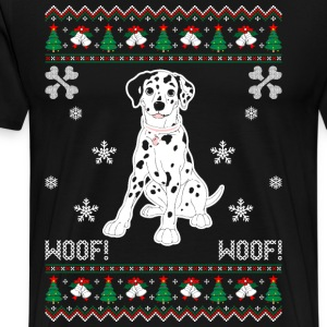 Dalmatian Ugly Christmas Sweater T-Shirts - Men's Premium T-Shirt