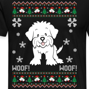 Maltese Ugly Christmas Sweater T-Shirts - Men's Premium T-Shirt