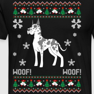 Great Dane Ugly Christmas Sweater T-Shirts - Men's Premium T-Shirt