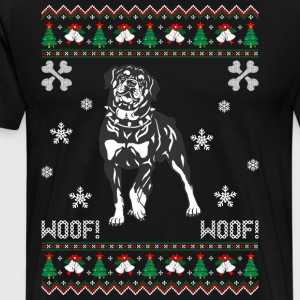 Rottweiler Ugly Christmas Sweater T-Shirts - Men's Premium T-Shirt