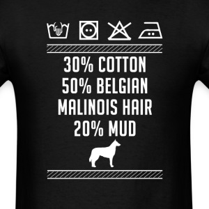 Belgian Malinois Hair - Washing Label T-Shirt T-Shirts - Men's T-Shirt