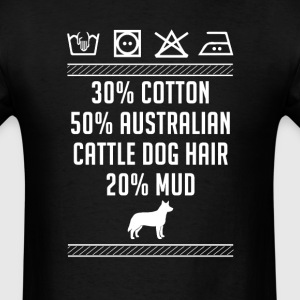 Australian Cattle Dog Hair - Washing Label T-Shirt T-Shirts - Men's T-Shirt