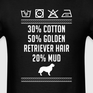 Golden Retriever Hair - Washing Label T-Shirt T-Shirts - Men's T-Shirt