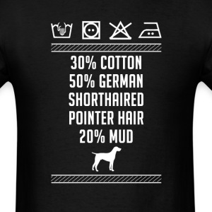 German Shorthaired Pointer Hair - Washing Label T- T-Shirts - Men's T-Shirt
