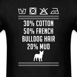 French Bulldog Hair - Washing Label T-Shirt T-Shirts - Men's T-Shirt