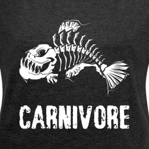 CARNIVORE WILD ANIMAL T-Shirts - Women´s Rolled Sleeve Boxy T-Shirt