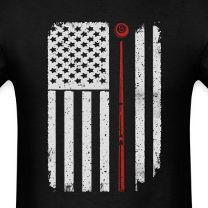 Billiard Snooker Pool - America USA Flag T-Shirt T-Shirts - Men's T-Shirt